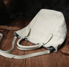 Fashion Black Leather Handbag Tote Shopper Bag White Shoulder Tote Purse For Women