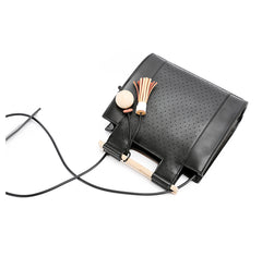 Fashion Black Leather Womens Unique Handbag Purse Shoulder Bag For Women