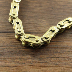 Badass Brass Gold Mens 18'' Bike Chain Pants Chain Wallet Chain Motorcycle Wallet Chain for Men