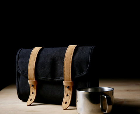 Fashion Canvas Men's Trifold Multi-Function Digital Storage Clutch Mobile Phone Bag For Men