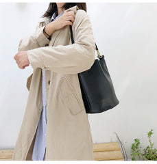 Fashion LEATHER Bucket Bag WOMENs SHOULDER BAG Purses FOR WOMEN