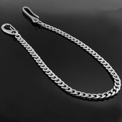 Fashion Stainless Steel Mens 18'' Silver Pants Chain Wallet Chain Motorcycle Wallet Chain for Men