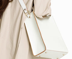 Fashion White Leather Women Tote Bag Tote White Shoulder Bag For Women