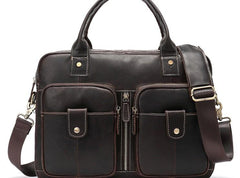 GENUINE LEATHER MENS Laptop BAG BRIEFCASE WORK BAG BUSINESS BAGS FOR MEN