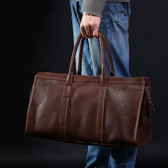 Leather Mens Large Weekender Bag Travel Bag Cool Duffle Bag Shoulder Bag for Men