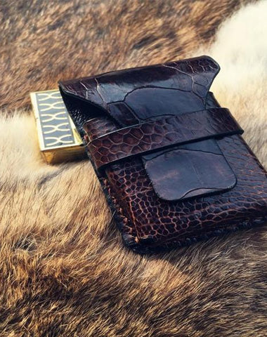 Cool Mens Leather Zippo Lighter Case Zippo lighter Holder with Belt Clip Loop