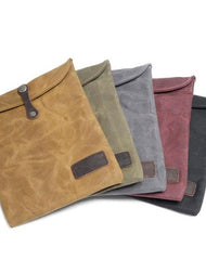 Cool Waxed Canvas Mens iPad Case iPad Air Case 10 inch for Men Clutch