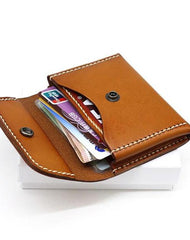 Leather Mens Card Wallets Front Pocket Wallet Small Cool Change Wallet for Men