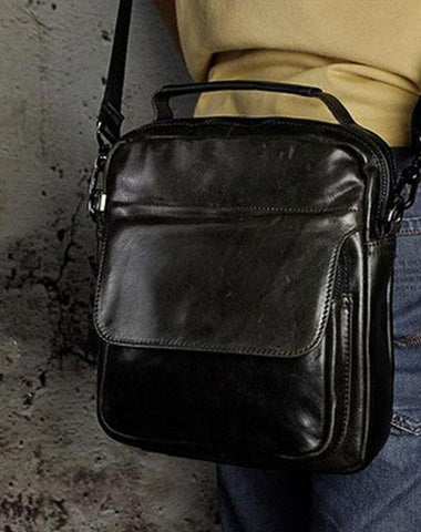 Small Leather Mens SIDE BAGs COURIER BAG Messenger Bag Shoulder Bag for Men