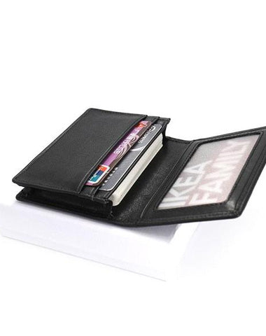 Leather Black Coffee Mens Small Card Wallet Coin Wallet Front Pocket Wallet for Men