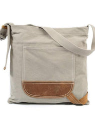 Mens Canvas Side Bag Messenger Bag Canvas Courier Bag Shoulder Bag for Men