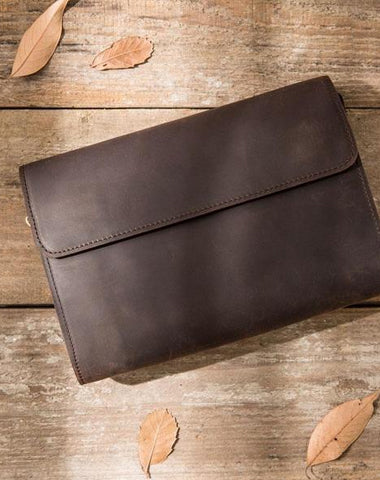 Cool Leather Mens Large Long Zipper Clutch Wallet Long Wallet for Men