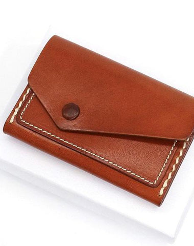 Leather Mens Card Wallet Front Pocket Wallet Small Slim Wallet Change Wallet for Men