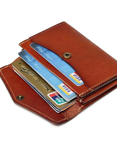 Leather Mens Card Wallet Front Pocket Wallets Cool Small Change Wallet for Men