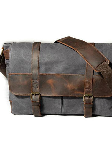 Mens Canvas Side Bag Canvas Messenger Bag Courier Bag Shoulder Bag for Men