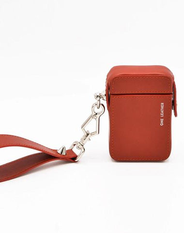 Cute Red Leather Womens 20pcs Cigarette Holder Case Wristlet Cigarette Case for Women