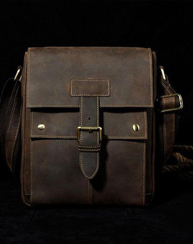 Small Leather Mens SIDE BAGs COURIER BAGs Messenger Bag Shoulder Bag for Men
