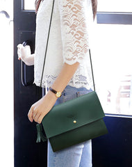 Cute LEATHER White WOMEN SHOULDER BAG Stylish Green Crossbody Purse FOR WOMEN