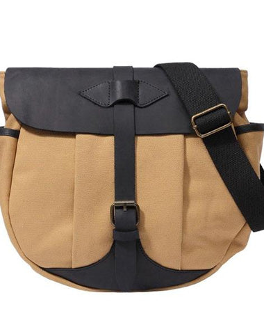 Mens Canvas Leather Saddle Side Bag Messenger Bag Canvas Shoulder Bag for Men