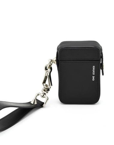Cute Black Leather Womens Mens 20pcs Cigarette Holder Case Wristlet Cigarette Case for Women