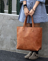 Stylish LEATHER Large Brown WOMEN Tote Bags Tote Shoulder Purse FOR WOMEN