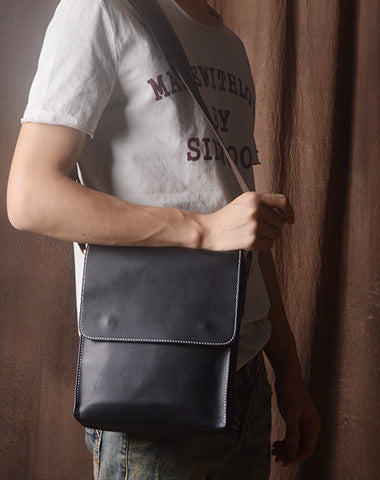 Cool leather mens messenger bag vintage Side Bag shoulder bag for men