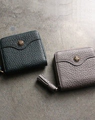 Cute LEATHER Womens Small Wallet Bifold Zipper Small Wallet FOR Women