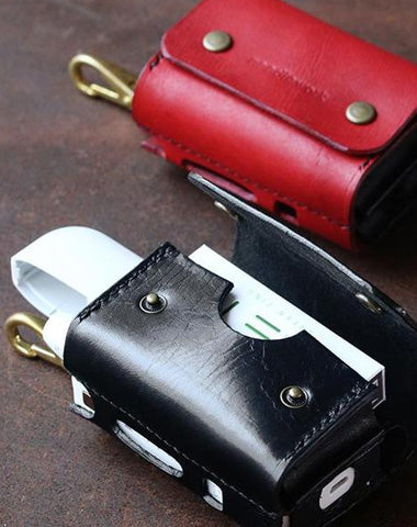 Cool Leather Mens IQOS Cigarette Case With Belt Clip IQOS Holder Belt Loop for Men