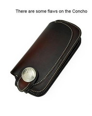 [On Sale] Handmade Mens Leather Biker Chain Wallet Cool Long Biker Wallet with Chain