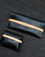 Cool Stylish Leather Mens Long Wallet Small Card Holder Coin Wallet for Men