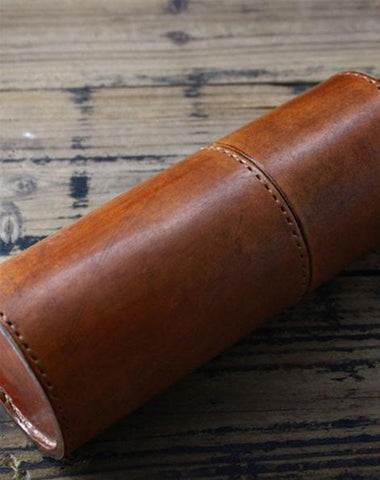 Handmade Leather Pencil Holder Pencil Case Pencil Barrel Case
