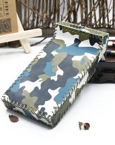 Handmade Leather Cigarette Holder Camouflage Leather Womens Cigarette Holder Case for Women