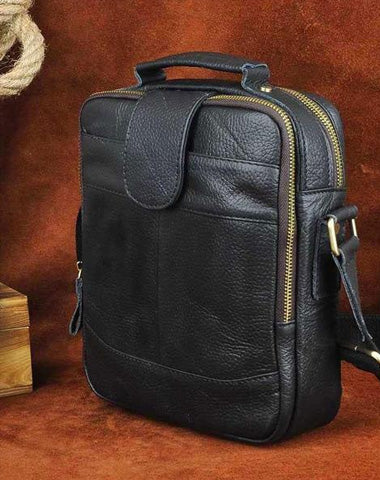 Small Leather Mens SIDE BAG COURIER BAG Messenger Bag Shoulder Bag for Men