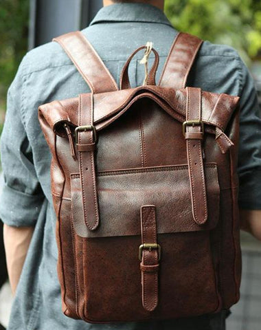 4522aea4dce3 ... Bags Backpacks - thebay.com  100% authentic 7164a 9076a Cool Leather Mens  Backpack Travel Backpacks Vintage Laptop Backpack for men