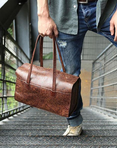 Vintage Leather Cool Mens Handbag Shoulder Bag for men