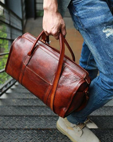 Vintage Leather Cool Mens Handbag Shoulder Bag Travel Bag for men