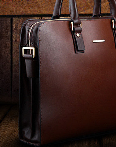 Fashion leather men Briefcase shoulder bag laptop bag work bag business bag