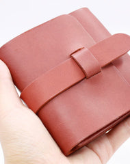 Handmade Leather billfold wallet purse women small wallet vintage cute