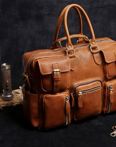 GENUINE LEATHER MENS COOL WEEKENDER BAG TRAVEL BAG DUFFLE BAGS BRIEFCASE MESSENGER BAG FOR MEN