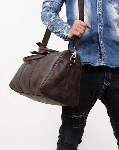 0b36b2d6f Leather Mens Weekender Bag Cool Travel Bag Duffle Bags Overnight Bag f