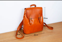 Genuine Leather Cute Backpack Bag Shoulder Bag Red Black Women Leather Purse