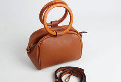 Genuine Leather Cute Doctor Bag Handbag Crossbody Bag Shoulder Bag Women Leather Purse