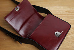 Genuine Leather Cute Square Crossbody Bag Shoulder Bag Women Girl Fashion Leather Purse