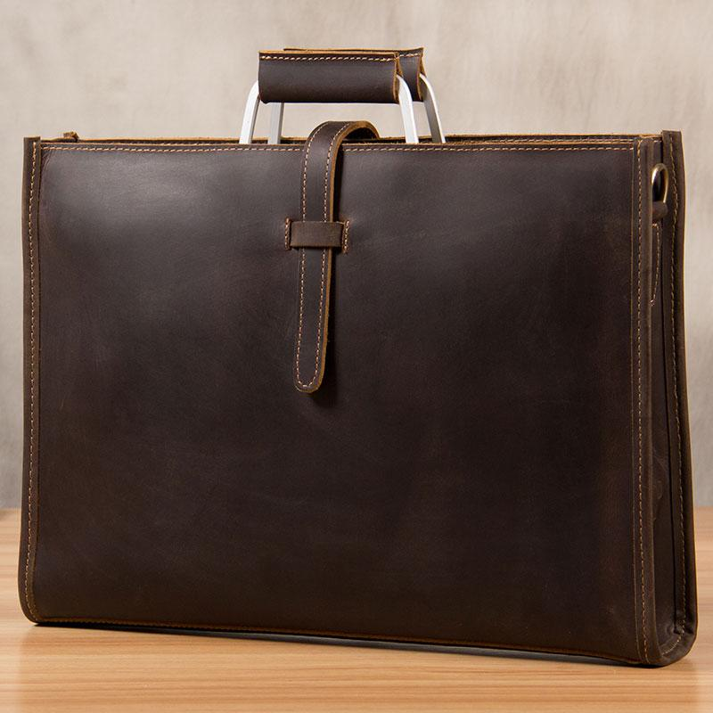 381dffd00e Vintage Leather Mens Coffee Briefcase Shoulder Bags Work Bag Laptop Bag for  Men. SKU  YS03391026. Ask a Question or Check out FAQs of the item