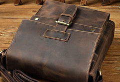 Genuine Leather Messenger Bag Cross Body Cool Chest Bag Sling Bag Travel Bag Hiking Bag For Men