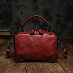 Black Leather Satchel Handbags Womens Red Satchel Small Crossbody Bag for Ladies