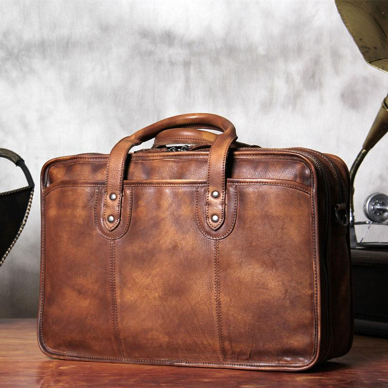 9a5273fe718c Next. 289.00289.00. No reviews. Overview:. Design Genuine  HANDMADE LEATHER  MEN BRIEFCASE MESSENGER LARGE VINTAGE SHOULDER LAPTOP BAG ...