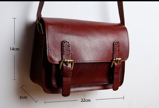 77406008f7 Genuine Leather Women Cute Shoulder Bag Satchel Bag Crossbody Bag Girl  Leather Purse