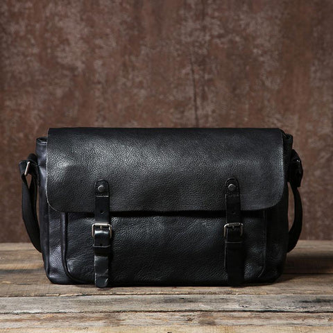 Vintage Leather Mens Cool Shoulder Bags Messenger Bag for men