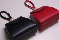 Genuine Leather handbag black red bag for women leather shopper bag